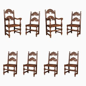 Antique Yorkshire Dining Chairs, Set of 8