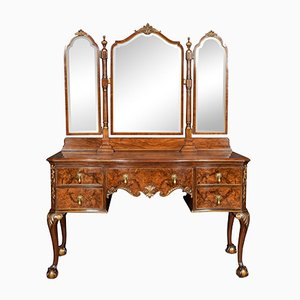 Antique Serpentine Walnut Dressing Table from Maple and Co.