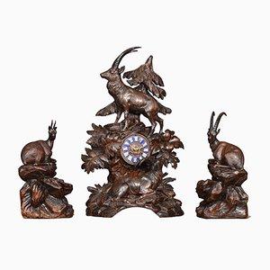 Reloj de repisa Black Forest, siglo XIX
