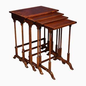 Tavolini a incastro antichi in mogano