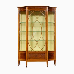 Antique Sheraton Revival Display Cabinet