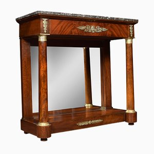 Regency Mahogany and Gilt Metal Mounted Console Table