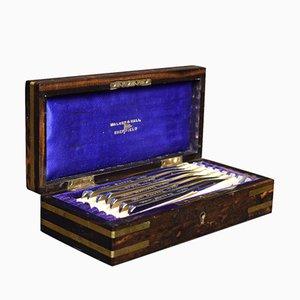 Coromandel Rasierer-Box von Walker & Hall, 19. Jh.