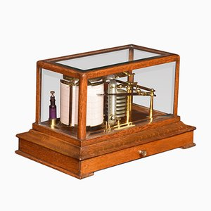 Antique Oak Cased Barograph by A J Lizars