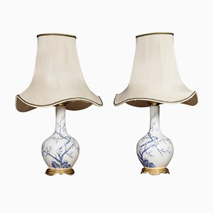 Vintage Table Lamps from Porcelaine de Paris, Set of 2