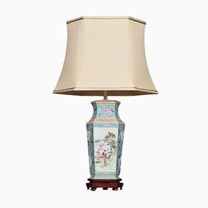 Lampe en Forme de Vase Antique en Porcelaine