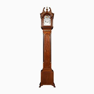 Reloj de caja alta antiguo de caoba de Hampton & Son Pall Mall