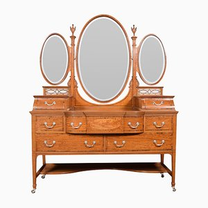 Antique Edwardian Satinwood Dressing Table