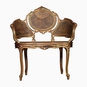 Antike Louis XV Ära Sitzbank