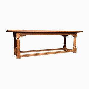 Grande Table de Réfectoire Antique en Chêne Clair