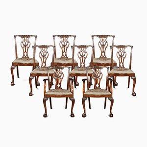 Antikes Chippendale Esszimmer-Set, 8er Set