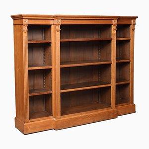 Antique Walnut Breakfront Bookcase