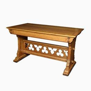 Antiker gotischer Beistelltisch aus Eichenholz