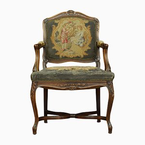 Antique Regency Style Fruitwood Armchairs, Set of 2