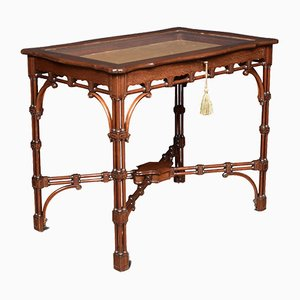 Antique Mahogany and Glass Display Table