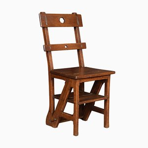 19th-Century Oak Metamorphic Chair