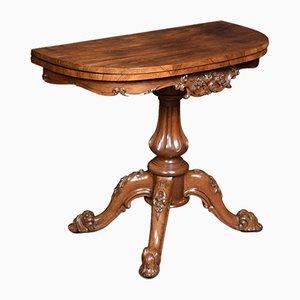 Table à Thé Demi Lune en Palissandre, 19ème Siècle