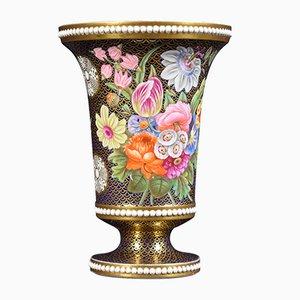 Antike Regency Vase aus Porzellan