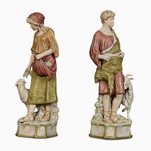 Figurines en Porcelaine de Royal Dux, Set de 2