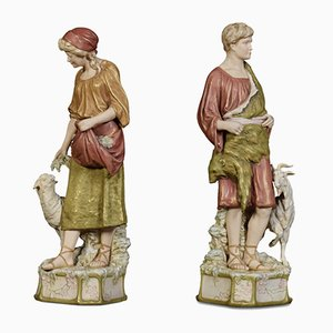 Porcelain Figures from Royal Dux, Set of 2