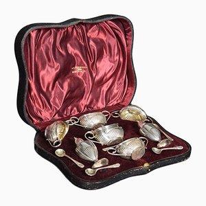 Set di condimenti in argento da Walker & Hall, 1904