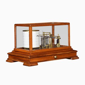 Antique Mahogany Barograph