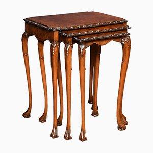 Tables Gigognes Vintage en Noyer