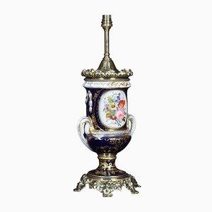 Lámpara de mesa francesa antigua estilo Sevres