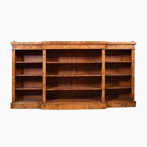 Large Antique Victorian Figured Walnut Bookcase