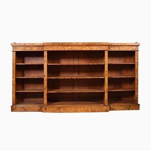 Libreria vittoriana antica in legno di noce