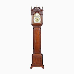 Small Antique Mahogany Cased Grandfather Clock