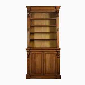 Large 19th-Century Light Oak Bookcase