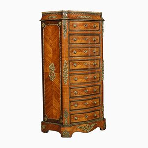 Antique Louis XVI Style French Kingwood & Rosewood Secretaire