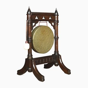 Antique Gothic Revival Oak Dinner Gong