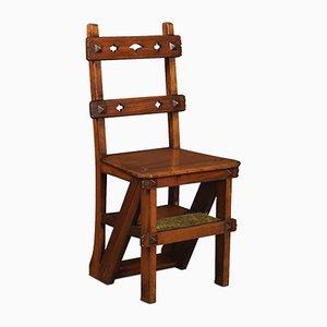 Metamorphischer Stuhl aus Nussholz, 19. Jh.