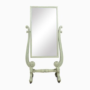 Antique Regency Painted Cheval Mirror