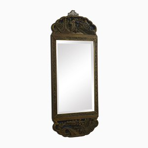 Antique Style Oriental Carved Wall Mirror