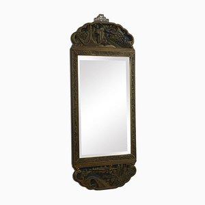 Miroir Mural de Style Oriental Antique Sculpté,