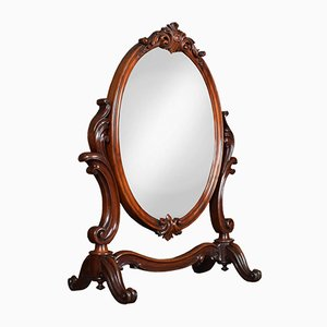 19th-Century Mahogany Vanity Mirror