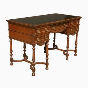 Carved Oak Victorian Writing Desk from Gillow & Co, 1890s