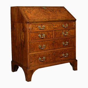 Antique Walnut Cross-Banded Writing Bureau
