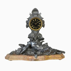 French Mantel Clock by Francois Moreau, 1870s