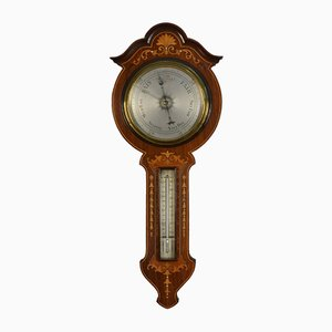 Edwardian Inlaid Rosewood Wheel Barometer
