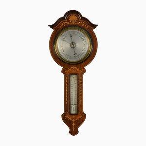 Edwardianisches Barometer aus Palisander mit Intarsien