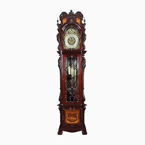 Large Antique Tubular Chiming Longcase Clock