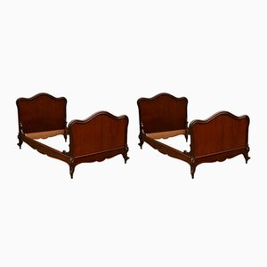 French Mahogany Beds, 1910s, Set of 2