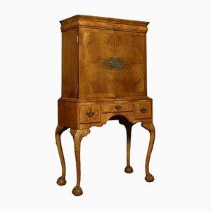 Antique Queen Ann Style Walnut Cabinet on Stand