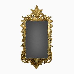 Specchio da parete antico in stile Giorgio II in legno dorato