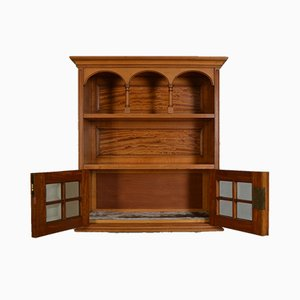 Edwardian Satinwood Wall Display Cabinet, 1900s