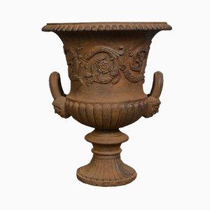 Urna de jardín victoriana de hierro fundido, década de 1870